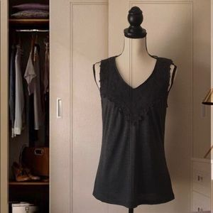 A'Reve Charcoal Grey Sleeveless Top